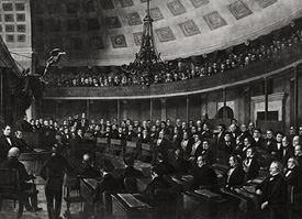 Photo of US Senate Chamber, courtesy of US Senate collection