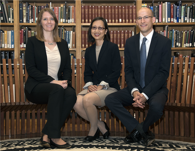2015-2016 Associate Fellows sitting in the History of Medicine Department Reading Room