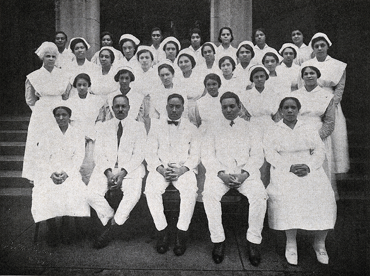 Interns and nurses at Provident Hospital from the hospital s annual
