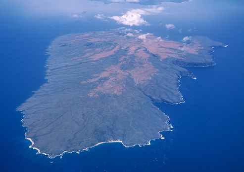 An aerial view of the island of Hawai'i