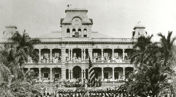 Ceremony marking the annexation of Hawai'i by the United States dated 1898