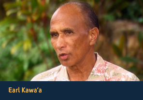 "<p><a href='http://apps2.nlm.nih.gov/nativevoices/interviews/index.cfm?mode=video&speaker=31&clipId=122' target='_blank'>Earl Kawa'a</a></p><p>Earl Kawa'a explains how ""ola"", a Hawaiian word for life, binds together physical, spiritual and intellectual well-being. (:00:55)"