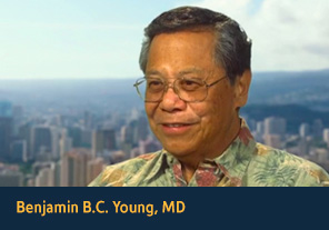 <p><a href='http://apps2.nlm.nih.gov/nativevoices/interviews/index.cfm?mode=video&amp;speaker=68&amp;clipId=135' target='_blank'>Benjamin B.C. Young, MD</a></p><p>Benjamin Young describes the cultural importance and health benefits of traditional Hawaiian activities, such as hula and canoeing. &#40;00&#58;54&#41;
