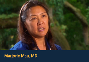 <p><a href='http://apps2.nlm.nih.gov/nativevoices/interviews/index.cfm?mode=video&amp;speaker=36&amp;clipId=10' target='_blank'>Marjorie Mau, MD</a></p><p>Marjorie Mau talks about how Native peoples&rsquo; connections the land ties to their well&#45;being. &#40;00&#58;43&#41;