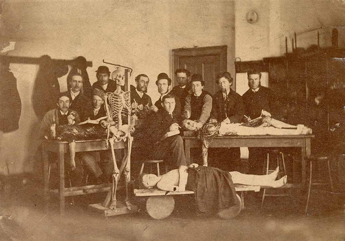 Dream Anatomy: Gallery: Photograph of students with cadaver