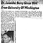 News clip with typewritten text and  photo of Dr. Berry.