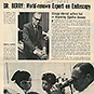 News article with typewritten text and a photo of Dr. Berry.