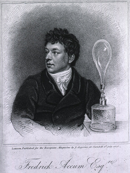 Engraving print of a young man seated and looking to his right on the table
