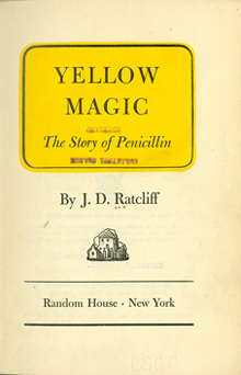 Title page of Yellow Magic featuring the title in a yellow rectangle.