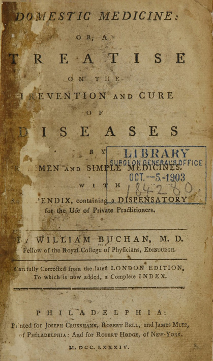 Title page of Domestic Medicine