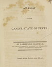title page from An essay on the canine state of fever