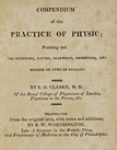 title page from Compendium of the practice of physic: pointing out the symptoms, causes, diagnoses, prognoses, and method of cure of diseases.