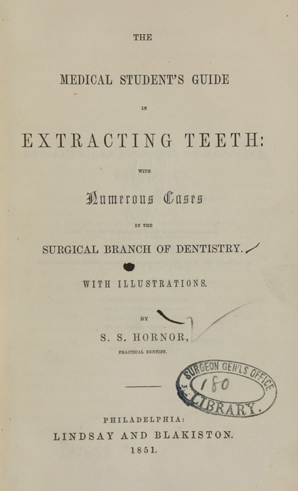 Title page of The medical student's guide in extracting teeth
