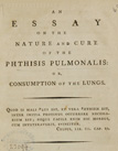 page from An essay on the nature and cure of the phthisis pulmonalis