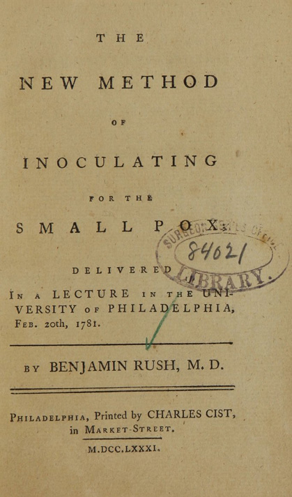 The new method of inoculating for the small-pox
