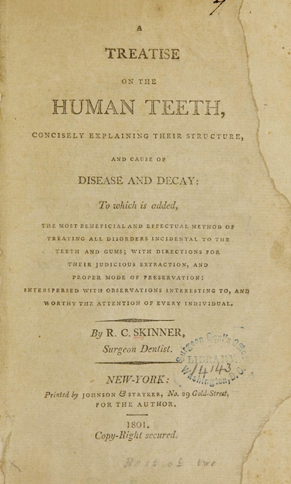 Title page of A treatise on the human teeth