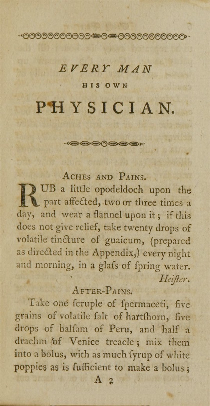Title page of Everyman His Own Physician