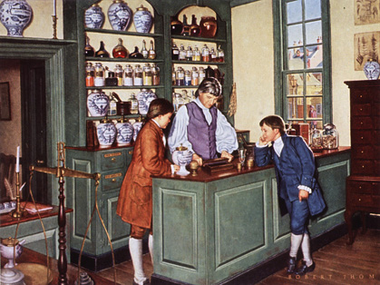 Illustration of the Marshall Apothecary