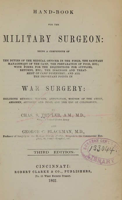 Title page of the Hand-book for the military surgeon