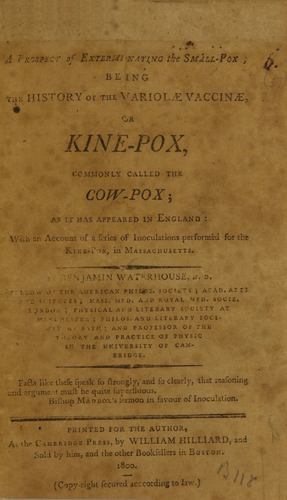 Title page from A prospect of exterminating the small-pox...