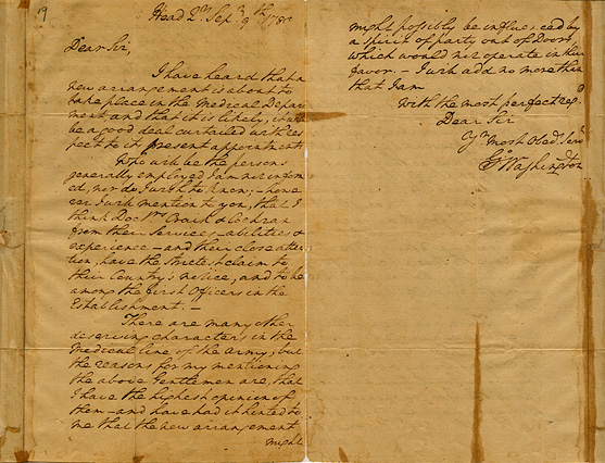 A letter from George Washington to the Honorable Joseph Jones of Congress