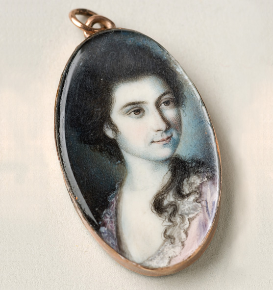 Miniature portrait of Martha Parke Custis by Charles Willson Peale