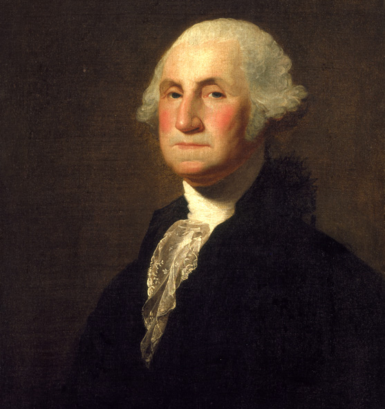 Portrait of first American president George Washington by Gilbert Stuart dated 1798