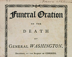 Cover of Funeral Oration of the Death of General Washington