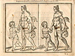 Proportion and measures of female and child figures viewed from the side, from Jehan Cousin's Livre de pourtraiture, NLM Call no.: WZ 250 C8673L 1608.
