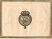 Woodcut of the royal seal of Henri IV of France on the colophon of the books, from Jehan Cousin's Livre de pourtraiture, NLM Call no.: WZ 250 C8673L 1608.