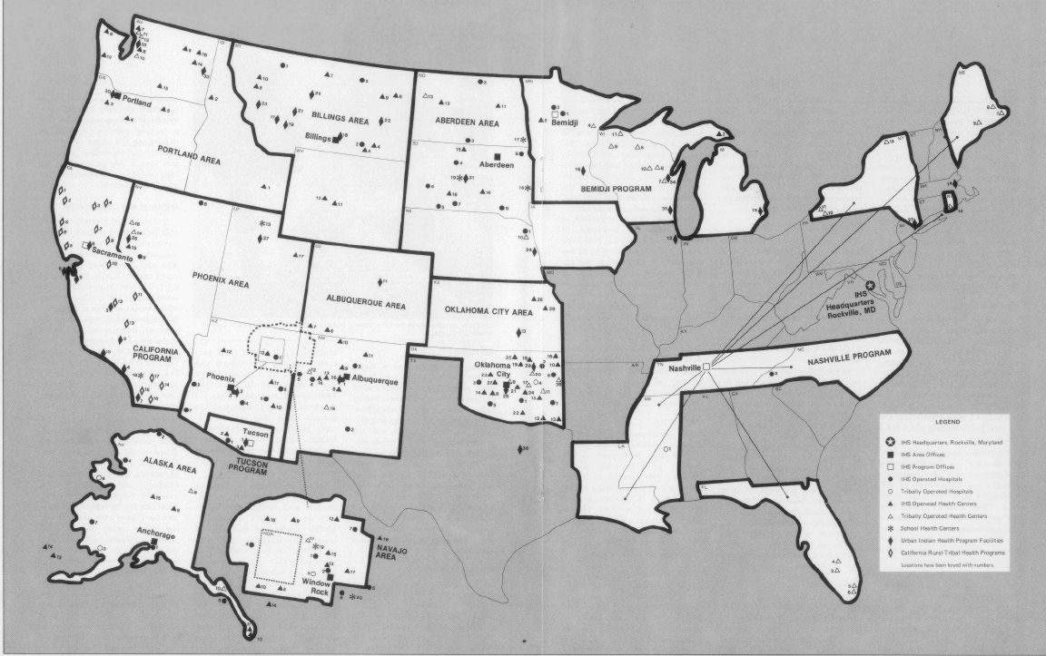 If You Knew The Conditions Health Care To Native Americans - Healthcare map due to states of us