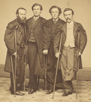 Civil War veterans, 1860s Courtesy Library of Congress