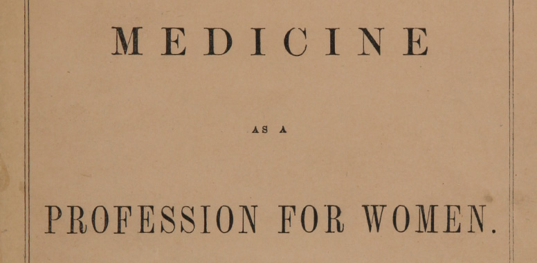 Title page of a book by Drs. Elizabeth and Emily Blackwell.