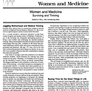 Title page of an article by Dr. Linda M. Dairiki Shortliffe.