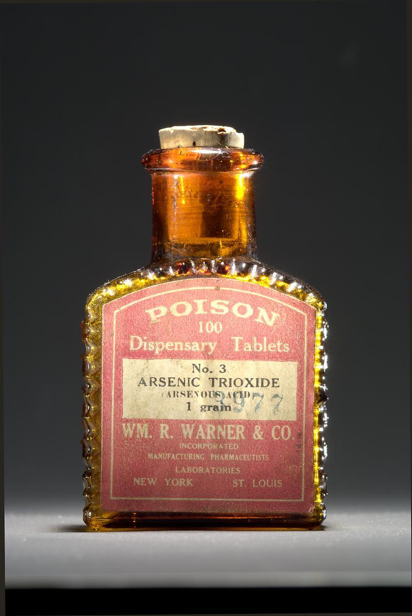 Arsenic-trioxide tablets, Wm. R. Warner & Co., about 1900