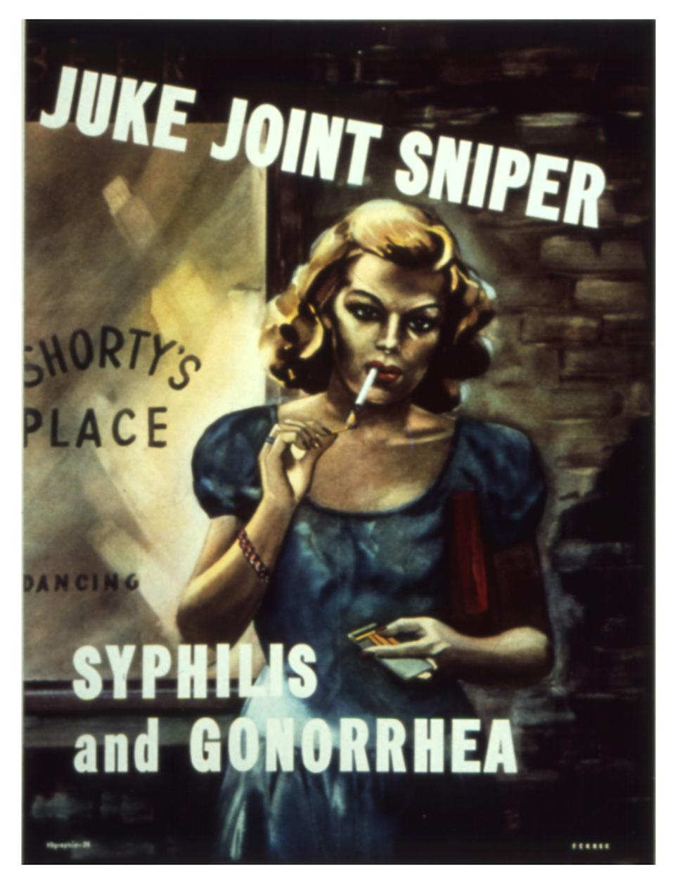 Poster des Gesundheitsamts der USA aus dem Jahr 1942.