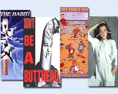 What Is The Thesis In An Essay Antismoking Campaign Posters Montage Featuring Four Posters The Left  Poster Is Break The Habit Featuring Web Content Writer also Philosophy Writing Service Visual Culture  Antismoking Campaigns Political Science Essays