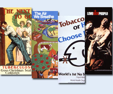 Visual Culture And Public Health Posters Montage Featuring Four Of The Sections