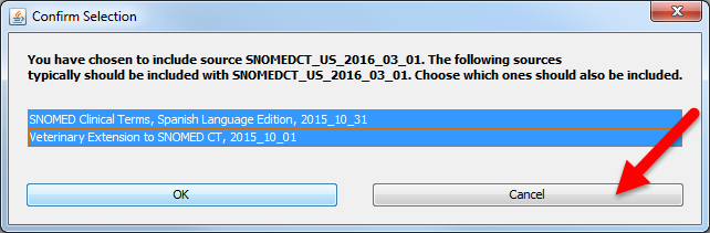 Fig 11: Select SNOMED CT to Include in Subset