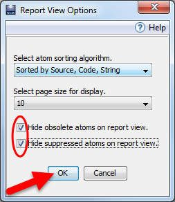 Fig 29: Report View Options Window
