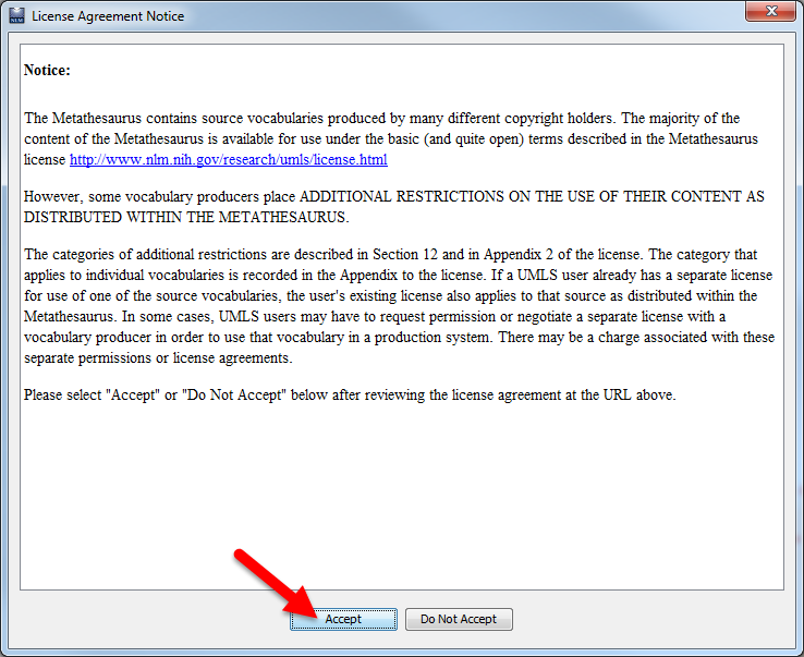Fig 6: License Agreement Notice
