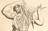 Drawing of a person holding flap of skin