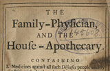 The Family Physician and the House Apothecary