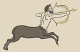 Drawing of a centaur