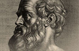 Drawing of a man with a prominent beard