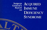 Blue background with text reading 'Aquired Immune Deficiency Syndrome'