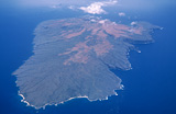 Aerial view of an island.