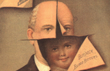 Advertisement with an illustration of a man cut away to show a little boy beneath