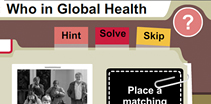 Who in Global Health, Hint, Solve, Skip