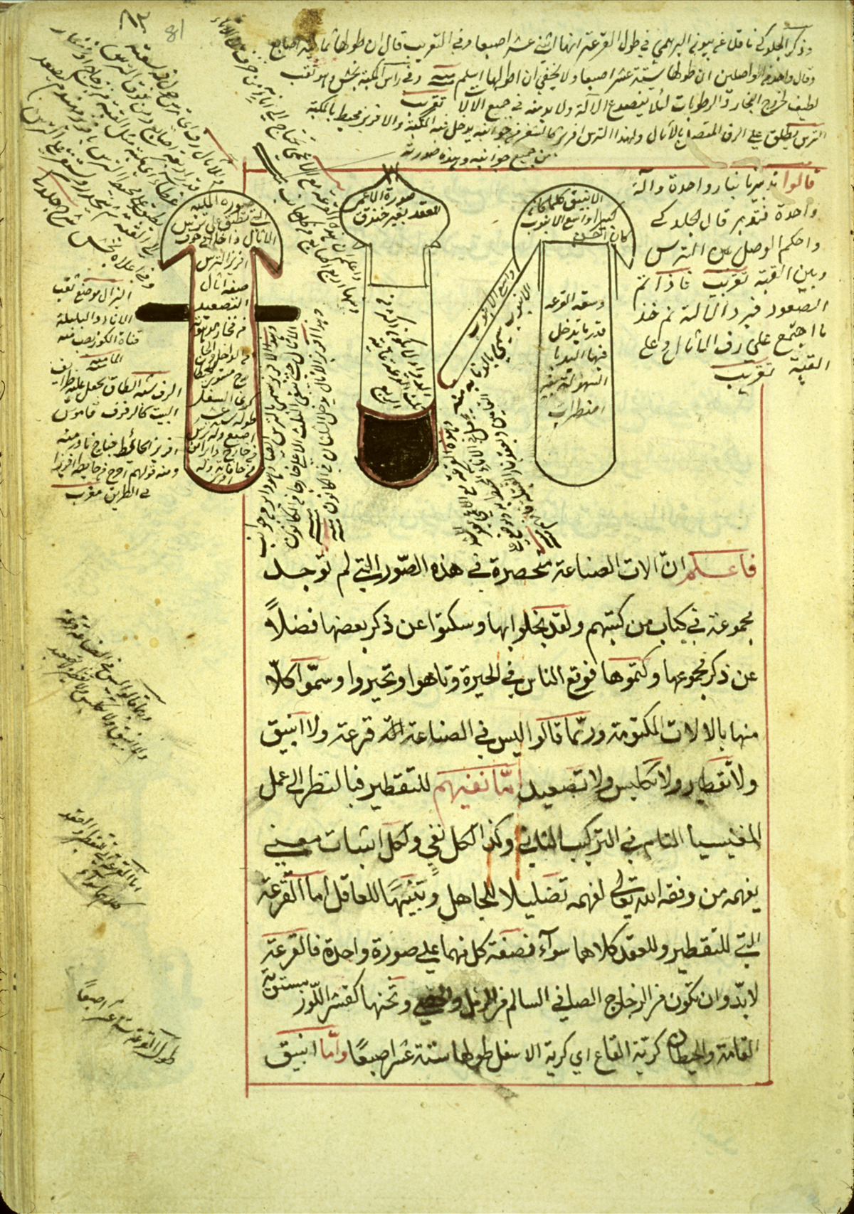 islamic medical manuscripts alchemy 50 folio 81a of ab363 al q257sim mu7717ammad ibn abd all257h al an7779257r299 s shar7717